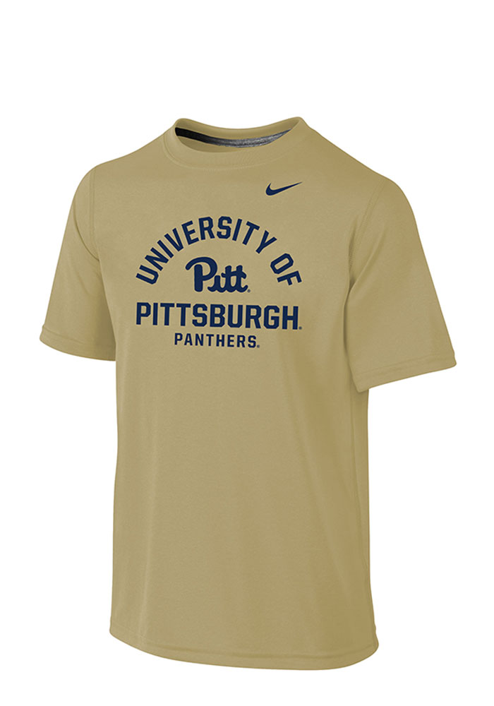 Nike Pitt Panthers Youth Gold Legend Arch Short Sleeve T-Shirt - Image 1
