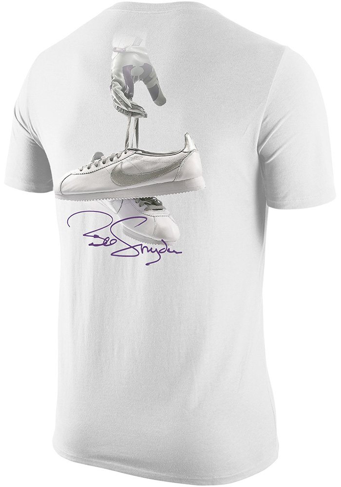 Nike K-State Wildcats White Thank You, Coach Snyder Short Sleeve T Shirt - Image 2
