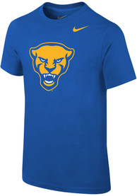 Nike Pitt Panthers Youth Blue Panther Head T-Shirt