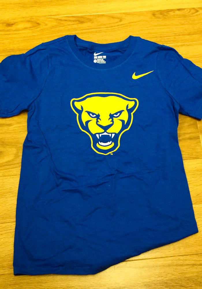 Nike Pitt Panthers Youth Blue Panther Head Short Sleeve T-Shirt - Image 2