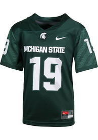 Nike Michigan State Spartans Youth Green Sideline Football Jersey