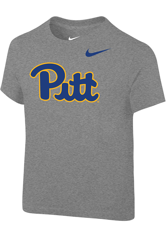best sneakers ddd76 194b3 Nike Pitt Panthers Toddler Grey Primary Logo Short Sleeve T-Shirt