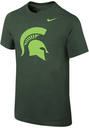 Nike Michigan State Spartans Youth Green Action Spartan Short Sleeve T-Shirt