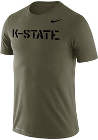 K-State Wildcats Nike Olive T Shirt - Olive