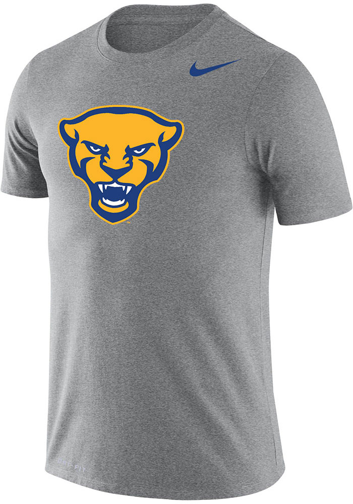 Nike Pitt Panthers Grey Word Short Sleeve T Shirt - Image 1