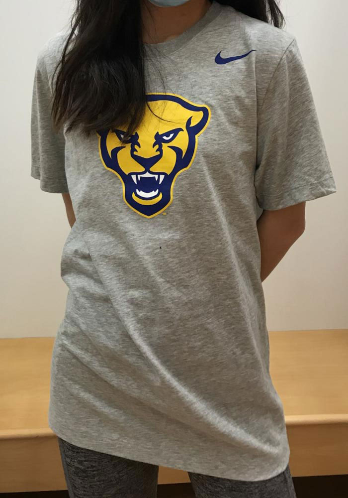 Nike Pitt Panthers Grey Word Short Sleeve T Shirt - Image 2