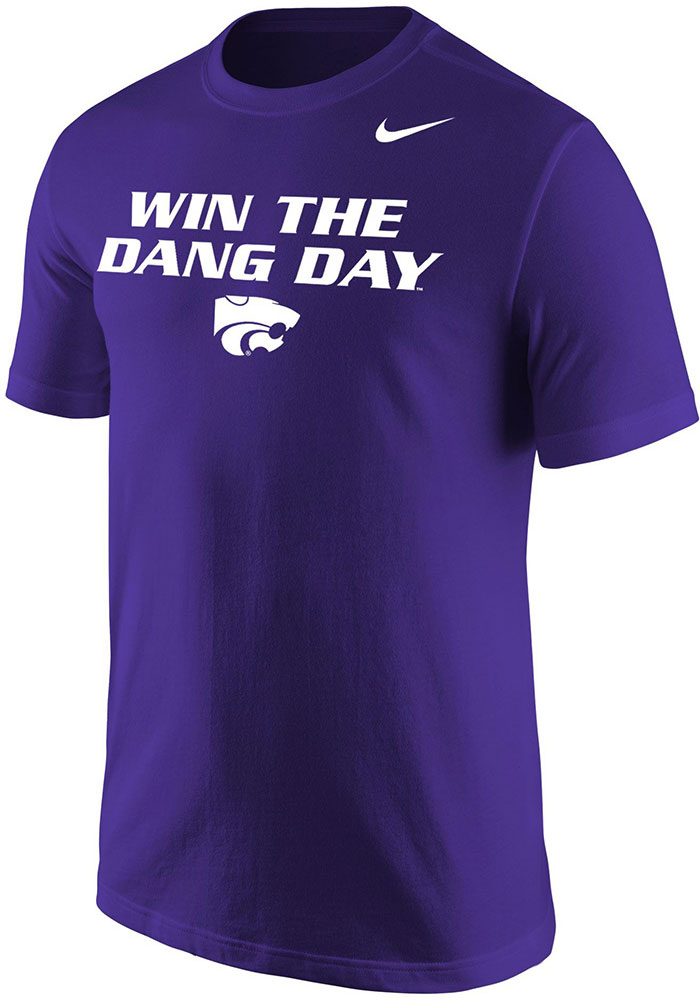 Nike K-State Wildcats Purple Win the Dang Day Short Sleeve T Shirt - Image 1