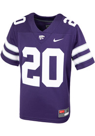 K-State Wildcats Youth Nike Sideline Replica Football Jersey - Purple