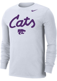 K-State Wildcats Nike Dri-FIT Cats Script T Shirt - White