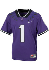TCU Horned Frogs Youth Nike Sideline Replica Football Jersey - Purple