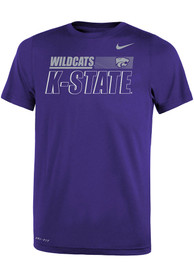 K-State Wildcats Youth Nike Legend Sideline T-Shirt - Purple