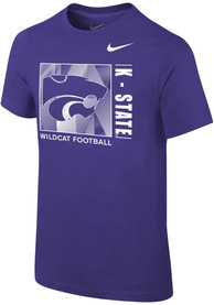 K-State Wildcats Youth Nike LR Facility Sideline T-Shirt - Purple