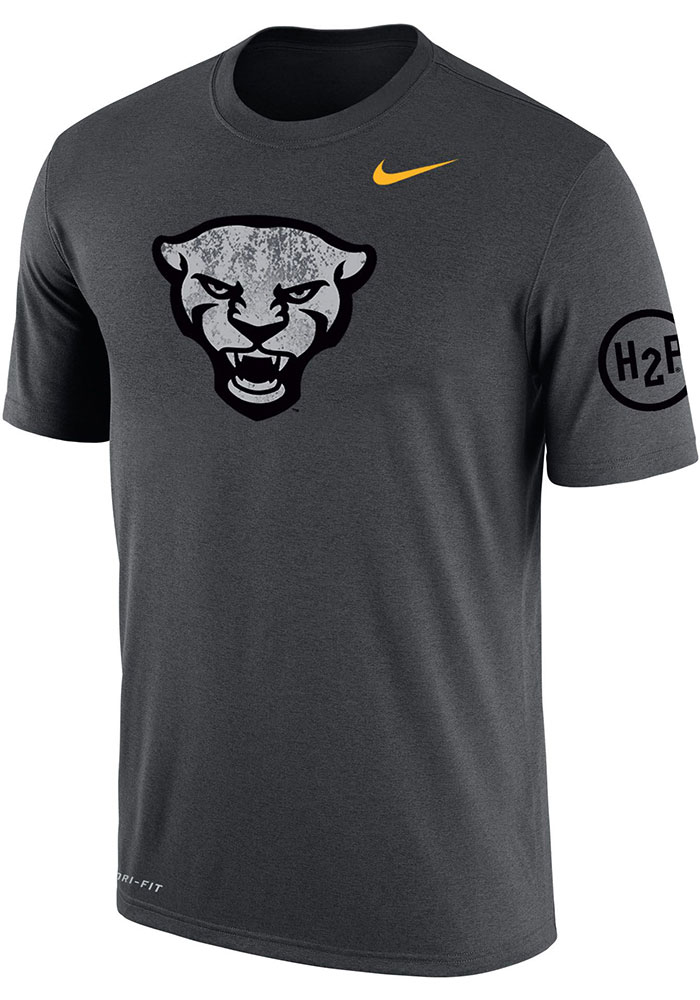 Nike Pitt Panthers Grey Forged The Future DriFIT Cotton Short Sleeve T Shirt - Image 1