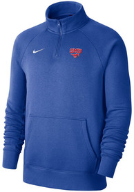 Nike SMU Mustangs Blue Club Fleece 1/4 Zip Pullover