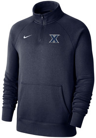 Nike Xavier Musketeers Navy Blue Club Fleece 1/4 Zip Pullover