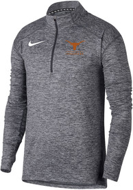 Texas Longhorns Nike Heather Element 1/4 Zip Pullover - Charcoal