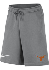 Texas Longhorns Nike Club Fleece Shorts - Grey