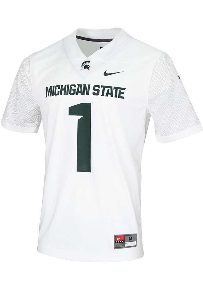 Nike Michigan State Spartans White Game Jersey