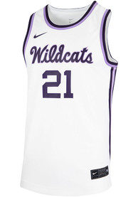 K-State Wildcats Nike Replica Basketball Jersey - White