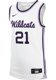 K-State Wildcats Youth Nike Replica Basketball Jersey - White