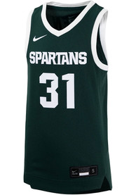 Michigan State Spartans Youth Nike Replica Basketball Jersey - Green