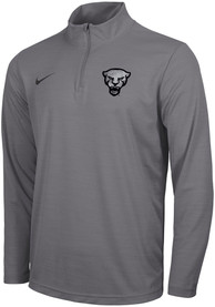 Pitt Panthers Nike Forged The Future Intensity 1/4 Zip Pullover - Grey