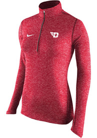 Nike Dayton Flyers Womens Element Red 1/4 Zip Pullover