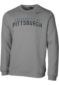 Pitt Panthers Nike Arch Crew Sweatshirt - Grey