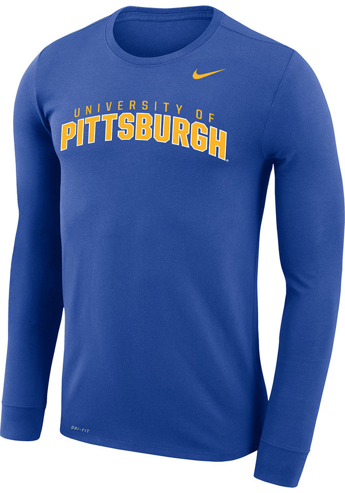 Nike Pitt Panthers Blue Arch Long Sleeve T-Shirt - Image 1