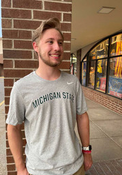 Michigan State Spartans Nike Dri-FIT Arch Name T Shirt - Grey