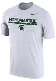 Michigan State Spartans Nike Dri-FIT Stacked T Shirt - White
