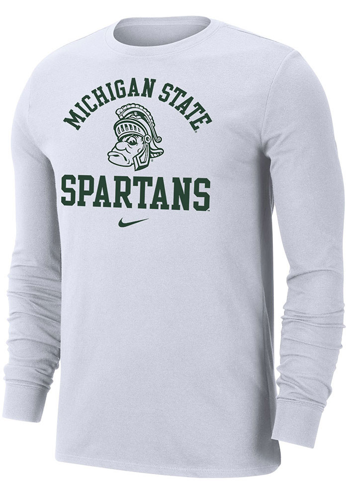 Nike Michigan State Spartans White Legend Long Sleeve T Shirt - Image 1