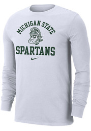 Nike Michigan State Spartans White Legend Long Sleeve T Shirt
