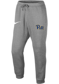 Pitt Panthers Nike Club Fleece Jogger Sweatpants - Grey