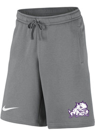 TCU Horned Frogs Nike Club Fleece Shorts - Grey