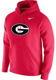 Georgia Bulldogs Nike Club Fleece Logo Hooded Sweatshirt - Red