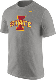 Iowa State Cyclones Nike Core Logo T Shirt - Grey