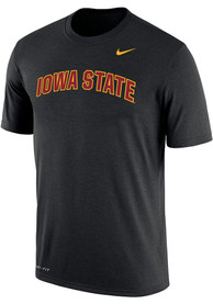 Iowa State Cyclones Nike Dri-FIT Arch Name T Shirt - Black