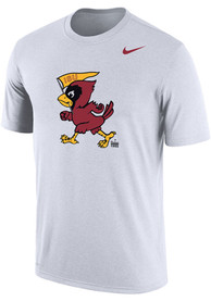 Iowa State Cyclones Nike Dri-FIT Vintage Logo T Shirt - White