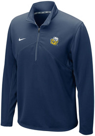 Michigan Wolverines Nike Training 1/4 Zip Pullover - Navy Blue