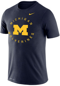 Michigan Wolverines Nike Legend Circle Graphic T Shirt - Navy Blue