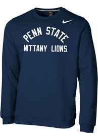Penn State Nittany Lions Nike Club Fleece Crew Sweatshirt - Navy Blue