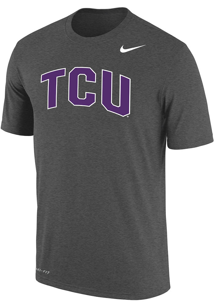 TCU Horned Frogs Nike Dri-FIT Arch Name T Shirt - Charcoal