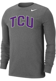 TCU Horned Frogs Nike Dri-FIT Arch Name T Shirt - Grey