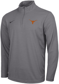 Texas Longhorns Nike Intensity Logo 1/4 Zip Pullover - Grey