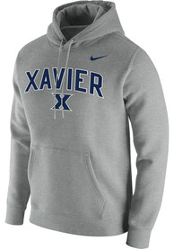 Xavier Musketeers Nike Club Fleece Hooded Sweatshirt - Grey