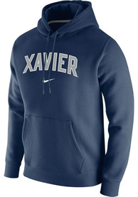 Xavier Musketeers Nike Club Fleece Hooded Sweatshirt - Navy Blue