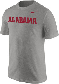 Alabama Crimson Tide Nike Core Wordmark T Shirt - Grey