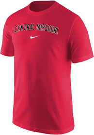 Central Missouri Mules Nike Core Arch Name T Shirt - Red