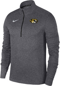 Missouri Tigers Nike Pacer Logo 1/4 Zip Pullover - Grey